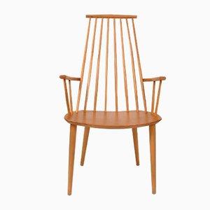 J110 Stuhl aus Buche von Poul Volther für FDB, 60er