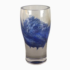 Jarrón vintage de vidrio de Heinrich Löffelhardt, años 60