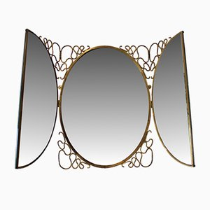 Specchio pieghevole vintage di Gio Ponti, Italia