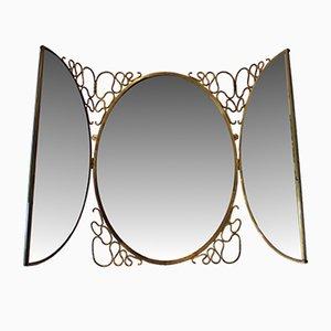 Vintage Italian Folding Mirror by Gio Ponti