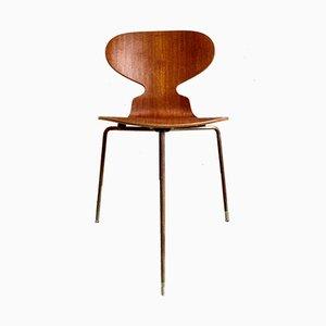 Silla Ant modelo 3100 vintage de teca de Arne Jacobsen para Fritz Hansen