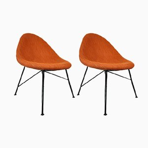 Egg Fireside Chairs by Miroslav Navratil, 1960s, Set of 2