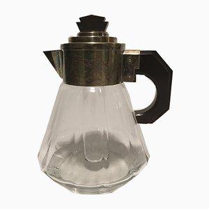 Glaskanne mit Eisschale von Quist, 1930er