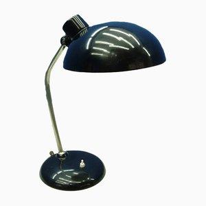 Lámpara de mesa alemana Bauhaus de metal de HELO, años 40
