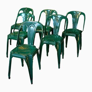 Chaise Industrielle Vintage Verte de Fibrocit
