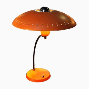 Lampada da tavolo vintage arancione di Louis Kalff per Philips
