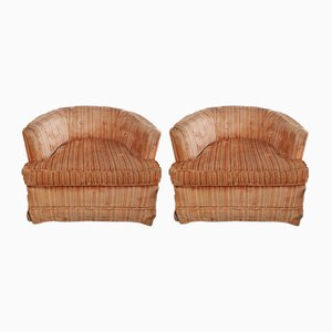 Large American Hollywood Regency Tub Armchairs, 1960s, Set of 2