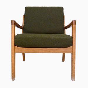 Dänischer Sessel mit Gestell aus Eiche von Ole Wanscher für Cado, 1960er