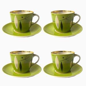 Mid-Century Tea Set from Riga Porcelain