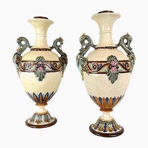 Antike schwedische Vasen von Rörstrand, 1900er, 2er Set