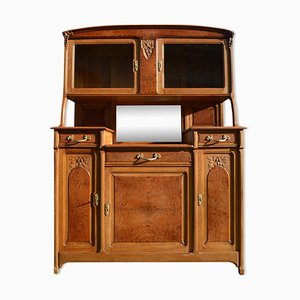 French Oak & Elm Art Nouveau Buffet, 1910s