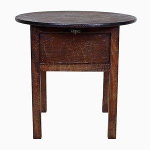 Mesa de costura vintage de roble con accesorios y superficie inclinable, años 40