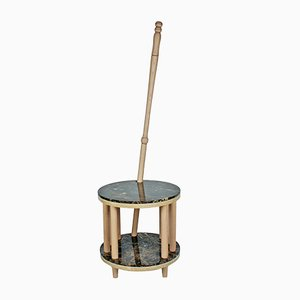 Pietro Travertine, Marble & Beech Table & Coat Rack by Manufatto