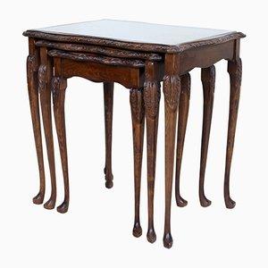 Tavolini ad incastro vintage in mogano