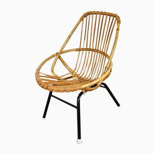 Rattan Children's Chair by Rohe Noordwolde, 1960s