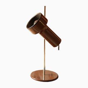 Lámpara de mesa industrial italiana, años 60