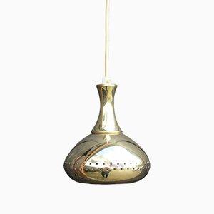 Lampada da soffitto vintage in ottone di Hans-Agne Jakobsson, anni '60