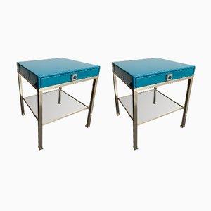 Tables d'Appoint Laquées par Guy Lefèvre pour Maison Jansen, France 1970s, Set de 2