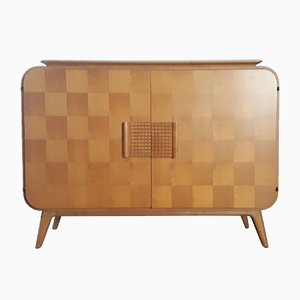 Oak & Mahogany Commode by Jindrich Halabala for UP Zavody, 1947