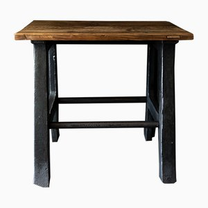 Mid-Century Industrial Side Table