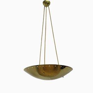 Lámpara de techo italiana de latón, años 50