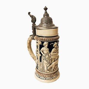 Antiker deutscher Bierkrug, 1880er