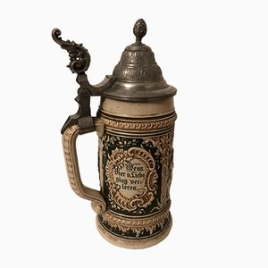 Antique German Beer Stein, 1880s