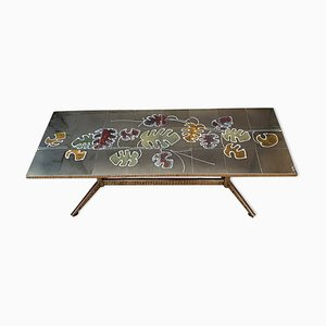 Green Tiled Coffee Table from Adri, 1960s