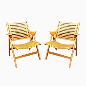 Mid-Century Modern Yugoslavian Rex Folding Easy Chairs by Niko Kralj for Stol Kamnik, 1960s, Set of 2