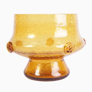 Bohemian Amber Bowl or Vase by Jan Havelka for Sklarny Novy Bor, 1970s