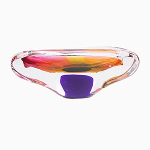 Art Glass Ashtray from Sklo Bohemia, 1960s