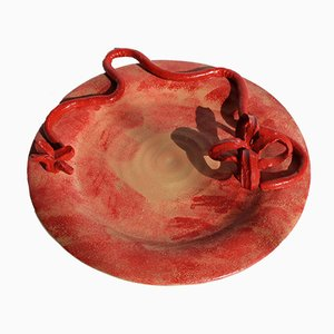 Terracotta Tray 4 by Mascia Meccani for Meccani Design