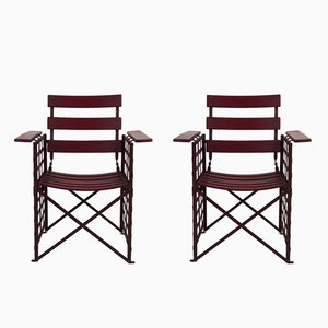 Art Deco Style Garden Chairs, 1970s, Set of 2