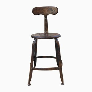 Nicolle Whale Tail Workshop Stools, 1930s, Set of 3