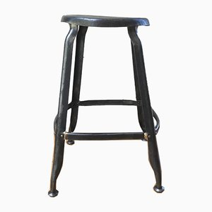 Metal Nicolle Workshop Stool, 1930s