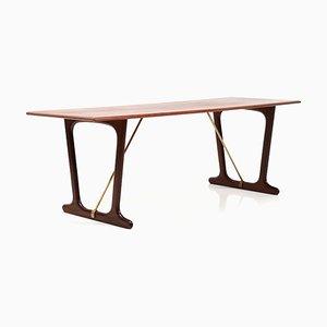 Danish Teak Sofa End Table, 1950s