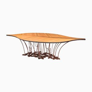 Wood & Steel Leaf Fenice Table by Marco Segantin for VGnewtrend