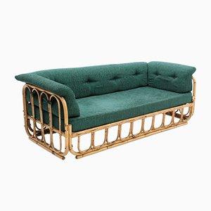 Italienisches 3-Sitzer Sofa aus Rattan, 1970er
