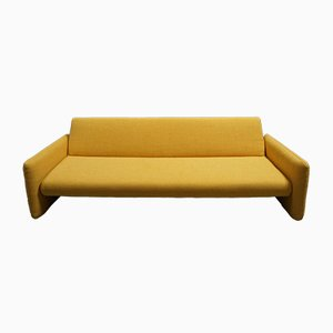 Mid-Century Modern Yellow 3-Seater Sofa Bed, 1960s
