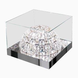Table Basse Roma en Verre avec Lampes en Acier et Cristal de VGnewtrend