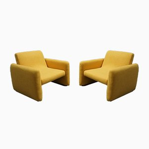 Mid-Century Modern Yellow Chairs, 1960s, Set of 2