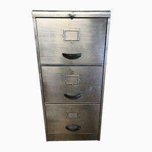Vintage Industrial Metal Filing Cabinet with 3 Drawers