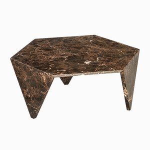 Emperador Dark Marble Ruche Coffee Table by Giorgio Ragazzini for VGnewtrend