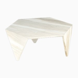 Calacatta White Marble Ruche Coffee Table by Giorgio Ragazzini for VGnewtrend