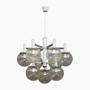 Lámpara de araña vintage de cristal de Murano de Gaetano Sciolari para Sciolari