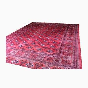 Großer roter afghanischer Vintage Dowlatabad Teppich