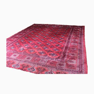 Large Vintage Dowlatabad Red Afghan Carpet