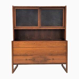 Mueble bar danés de palisandro, años 60