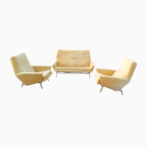 Living Room Set by Guy Besnard for Besnard & Cie, 1960s