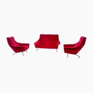 Living Room Set by Guy Besnard for Besnard & Cie, 1962